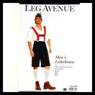 Mens 4pc LEDERHOSEN Oktoberfest German Bavarian Leg Avenue 83240 Adult
