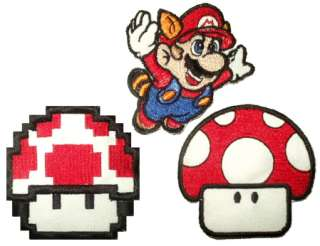 Set Super Mario Bros Embroidered Patches Nintendo Luigi