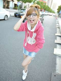Super Cute Fashion Korea Bunny Women Grils Thick Cotton Winnie Hoodie