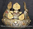 Wonderful Amazing Sacred Old Antique Tibetan Buddhism Pure Silver Lama