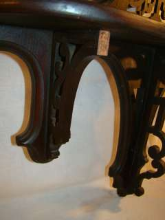LG Antique 19thC Victorian GOTHIC Wall Hanging PARLOR MIRROR Shelf