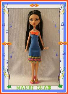 HANDMADE Clothes Dress + Jewelry 4 MONSTER HIGH DOLL Custom Fashion
