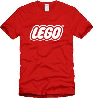 Retro LEGO T SHIRT logo vintage toy block brick build 80s 90s NEW