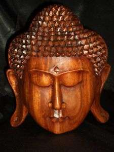 Bali Hand Carved Suar Wood Buddha Mask ~Serenity ART