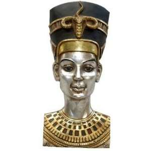 Statue Queen Nefertiti Wall Sculpture Figurine Home & Kitchen