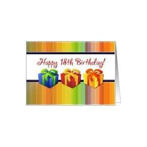 Happy 18th Birthday   Colorful Gifts Card: Toys & Games