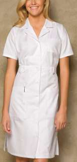 NWT Dickies Medical Uniform Button Front WHITE Nurses Uniform Dress