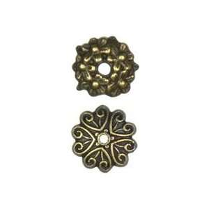 Cousin Jewelry Basics Metal Beads 32/pkg antique Gold Mixed Cap 3 Pack