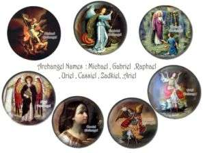 Lot The 7 Archangels BADGES BUTTONS PINS 1 INCH 25mm
