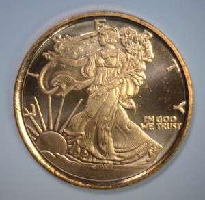 Walking Liberty Half 1 oz COPPER Bullion Medal Medallion *NEW