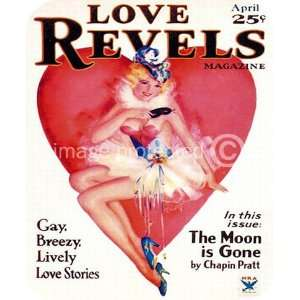 Moon is Gone Love Revels Pinup Girl Vintage Art MOUSE PAD