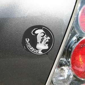 State Seminoles (FSU) Silver Osceola Head Vehicle Emblem Automotive