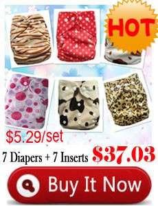 Multicolor 1 PC One Size Adjustable Reusable Baby Cloth Diaper Nappies