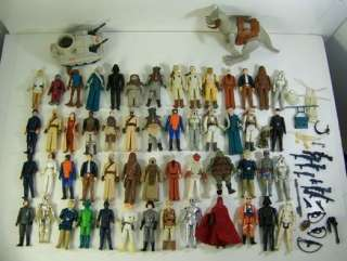 VINTAGE ORIGINAL STAR WARS ACTION FIGURE LOT 1977   1983 SOME WEAPONS
