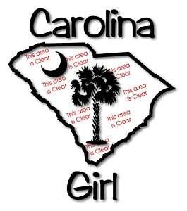 CAROLINA GIRL PALM TREE MOON VINYL DECAL STICKER (St1)