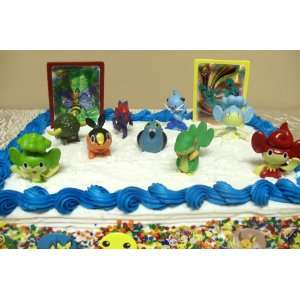 Unique Pokemon 17 Piece Cake Topper Featuring 9 Adorable