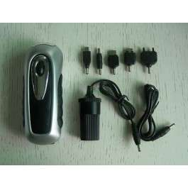 LED Hand Crank Flashlight With Phone Charger