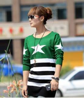 Look Sweety Pentangle Round collar Casual Knitting Sweaters cardigans
