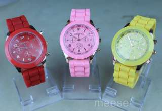 Silicone Jelly Gel Quartz Analog Sports Wrist Watch 9Colors