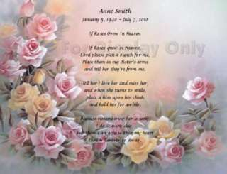 Poem For Loss Of Sister Personalized Memorial