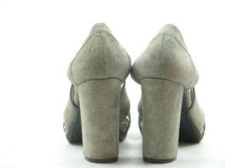NINE WEST Gray Suede Peep Toe Platform Heels 8 M FATIOR