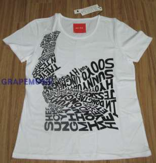 GIRLS GENERATION SUPER JUNIOR SPAO LETTERING T SHIRT