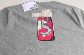 New Womens Grey Moschino Logo Nice T shirts SzM L