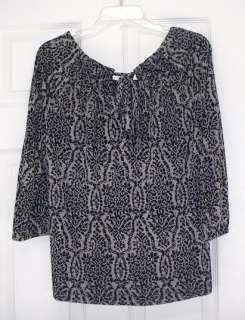 188 NWT JOIE JETSON Ikat Print Jersey Top Shirt S