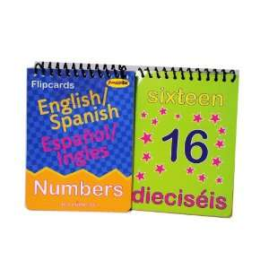 2 Spanish English Flipcard Books Numbers Flash Learning