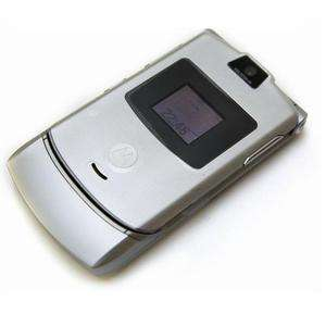 RAZR V3 No Contract Quad Band GSM Camera Cell Phone Silver Used