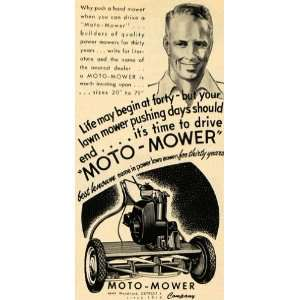 1949 Ad Moto Mower Co. Tools Cutting Grass Machine