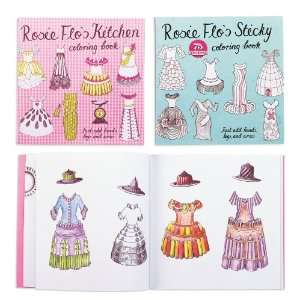Rosie Flo Coloring Books with Stickers and Tracing Paper