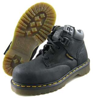 NEW Dr Martens Womens Heritage 0072 Black Steel Toe Shoe US Sizes