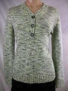 New Womens KAREN SCOTT Green Marled Pullover Sweater L
