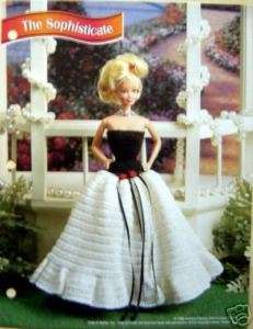 Crochet Fashion Doll Pattern SOPHISTICATE GOWN / Dress