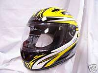 FULMER ORBIT Yellow Full Face Helmet DOT & Snell XSm