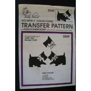 Hot Iron Transfer Pattern #2049 Scotty with Bow Collar