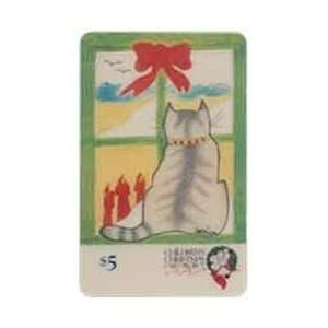 Phone Card: $5. Disney Childrens Christmas Card Project (Cat Drawing