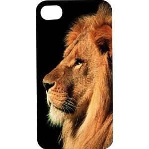 Clear Hard Plastic Case Custom Designed King of the Jungle Lion iPhone