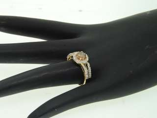 Gold 1.01Ct. Round Cut Chocolate Brown Diamond Engagement Ring