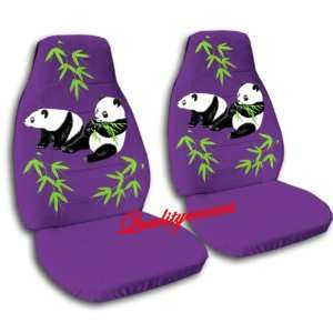 2 purple Panda bear car seat covers, for a 2003 Ford