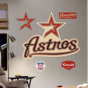 Throwback Houston Astros Logo Large Wall Graphic Sticker by Fathead