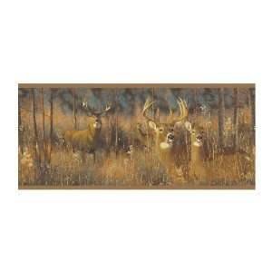 whitetail deer wallpaper border
