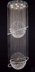 LIGHT LARGE INCREDIBLE SILVER MODERN CRYSTAL BALL CHANDELIER
