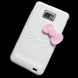 Galaxy S II White Hello Kitty Silicone Silicon Case Cover Skin