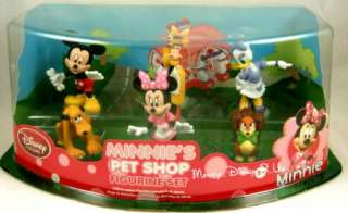 NEW  PVC Minnies Pet Shop Mickey Mouse Clubhouse Figure