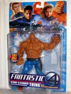 FANTASTIC 4 THING Stomp N Clobber action figure with electronic