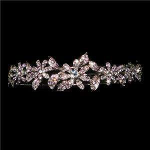 Bridal Flower Leaf Head Hair Band Swarovski Crystal