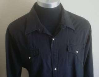 Big & Tall Pearl Snap Rockabilly Western Shirt 4XL L/S