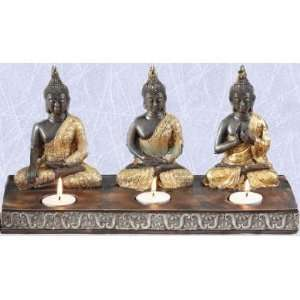 The 3 buddha s statue Tealight candle sculpture light (Digital Angel